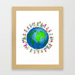 Christmas World Kids Framed Art Print