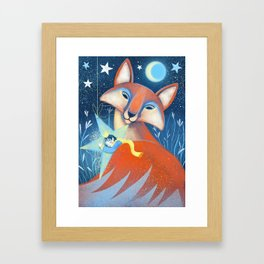 the prince&the fox Framed Art Print