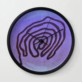 Tribal Maps - Magical Mazes #04 Wall Clock