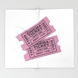 Cinema Tickets Throw Blanket