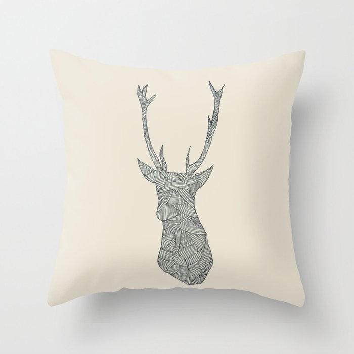 Excellent Deer Throw Pillow Inzonedesignstudio Interior Chair Design Inzonedesignstudiocom