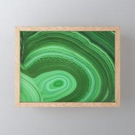 Green Agate Framed Mini Art Print