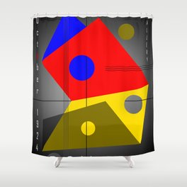 Bauhaus Exhibition Poster VIII v.2 Shower Curtain