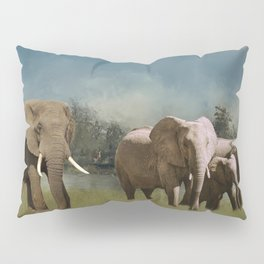 Leaving The Watering Hole Pillow Sham