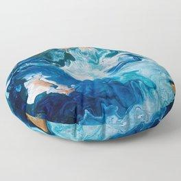 Pour Painting Ocean Floor Pillow