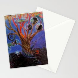 The tree of many worlds Stationery Cards