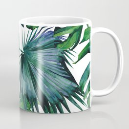 Tropical Palm Leaves Classic Coffee Mug