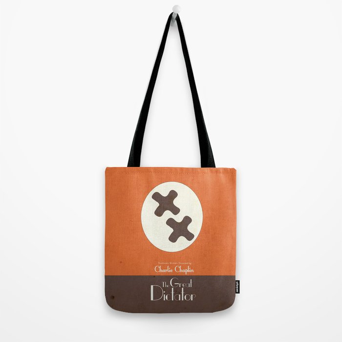The Great Dictator, Charlie Chaplin movie poster, minimal playbill, nazis political satire, Charlot Tote Bag