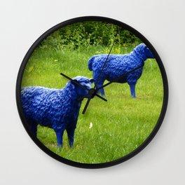 blue sheep Wall Clock
