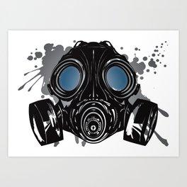 GAS_MASK_PROTECTION Art Print