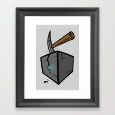 Diamond in the Block Framed Art Print