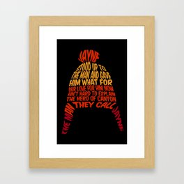 Jayne Hat Framed Art Print