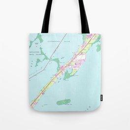 Vintage Rock Harbor Florida Map (1947) Tote Bag