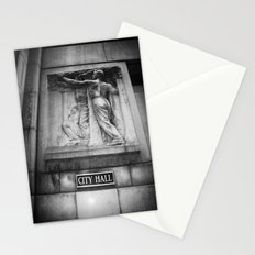 City Hall Chicago Black and White Stationery Cards