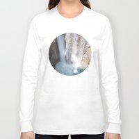 allyson johnson Long Sleeve T-shirts featuring Johnson Canyon Waterfall by RMK Creative