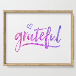 Grateful Serving Tray
