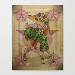 Bohemian Beasts: Deer Canvas Print