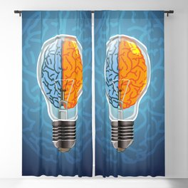 Left and Right Brain, how an idea originated, whether from the left or right brain Blackout Curtain