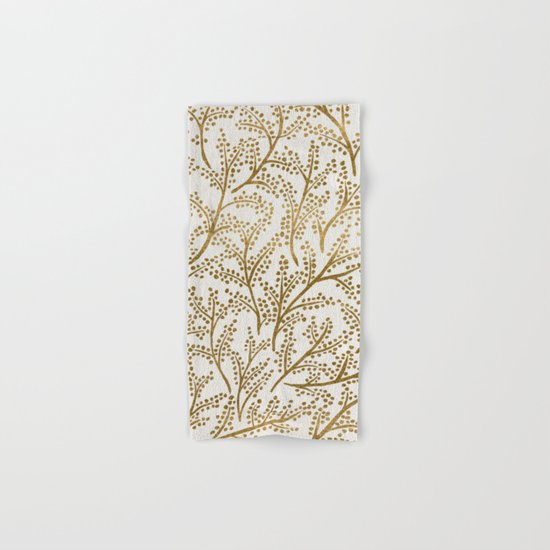 Gold Branches Hand & Bath Towel