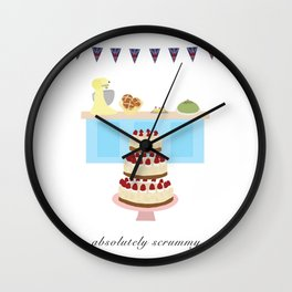 Absolutely Scrummy : Great British baking Wall Clock