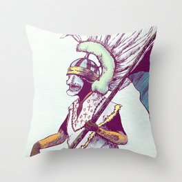 Costumed Person Throw Pillow