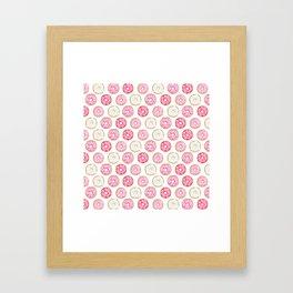 Pink Donuts Framed Art Print