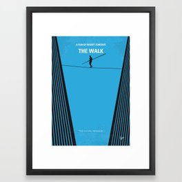 No796 My The Walk minimal movie poster Framed Art Print