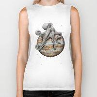celestial Biker Tanks featuring Celestial Cephalopod by J.P Ormiston