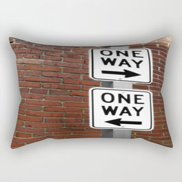 Street Sign One Way photography Rectangular Pillow
