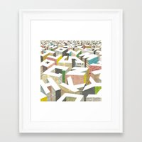 ilovedoodle Framed Art Prints featuring The Capital by I Love Doodle