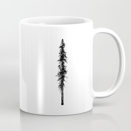 Alone in the forest - a solitary, towering Douglas Fir tree Coffee Mug