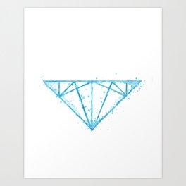 watercolor diamond Art Print