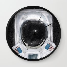 space selfie Wall Clock