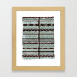 Harry Tribal Print Potter- Horcrux Blue Framed Art Print