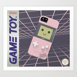 GAMETOY - Light Pink         Game Boy, toy, Gameboy Art Print