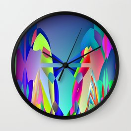 Total hidden pattern Wall Clock