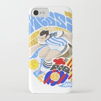 messi iPhone & iPod Cases featuring Messi by Simon Estrada