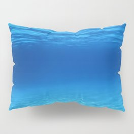 Underwater Blue Ocean, Sandy sea bottom Underwater background Pillow Sham