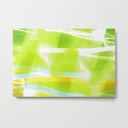 In Between Yellow, Green and Blue - JUSTART © Metal Print