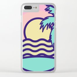 Tropical Beach Vaca Clear iPhone Case