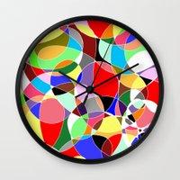 musa Wall Clocks featuring Love Doodles by DeMoose_Art