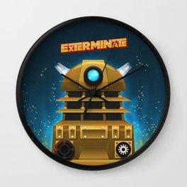 EXTERMINATE Wall Clock