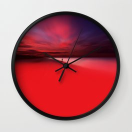 Fisher In Red Wall Clock