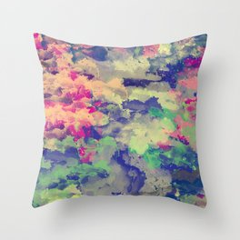 Abstract painting X 0.3 Throw Pillow