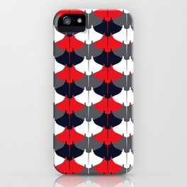 Manta Ray Pattern (Blue and Red) iPhone Case