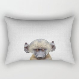 Baby Baboon - Colorful Rectangular Pillow