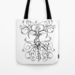 Deer Demask Tote Bag