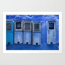 Blue Electricity Readers in Morocco Art Print