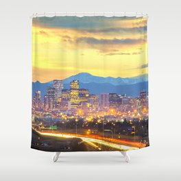 The Mile High City Shower Curtain