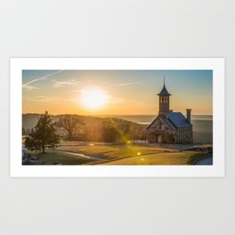 Chapel of the Ozarks Top of the Rock Panorama Art Print